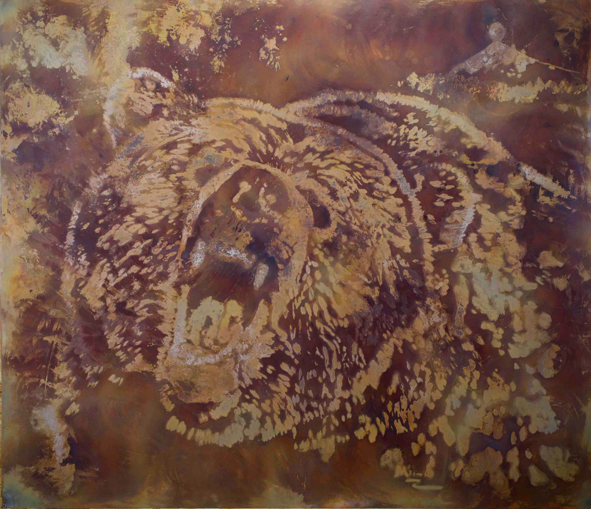 """Portrait of a Grizzly Bear""- 49""x43"""