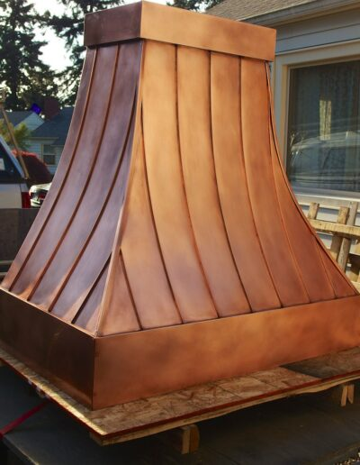 Copper Barbecue Hood