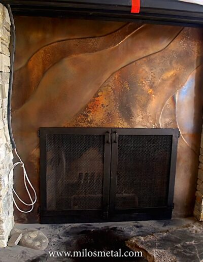 Volcanic Stainless Fireplace
