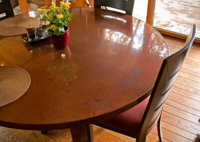 Volcanic Stainless Table