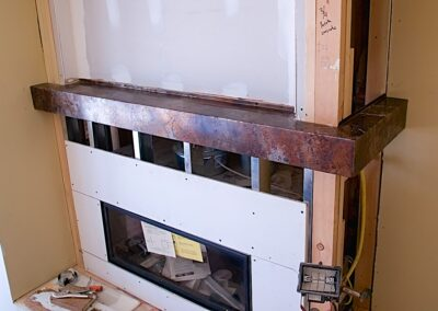 Volcanic Stainless Fireplace Mantel