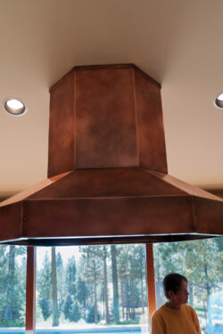 Island Copper kitchen hood