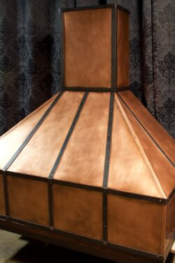 copper kitchen hood barbecue