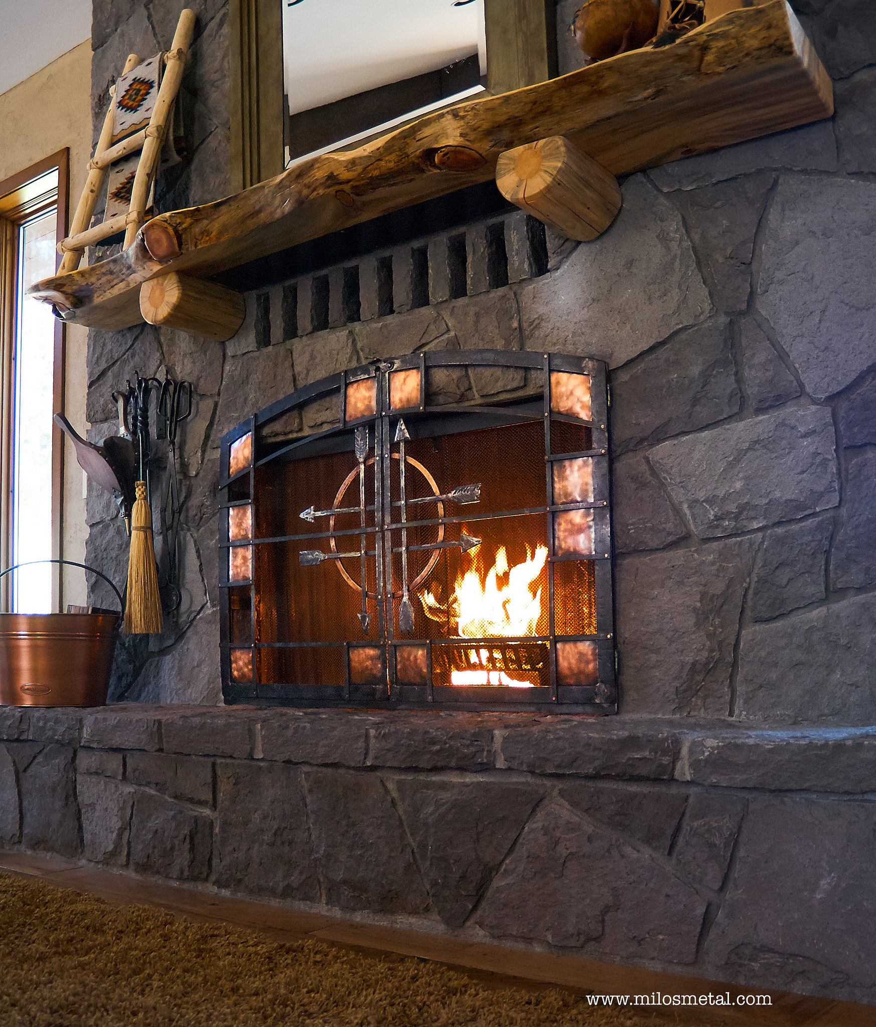 fireplace steel
