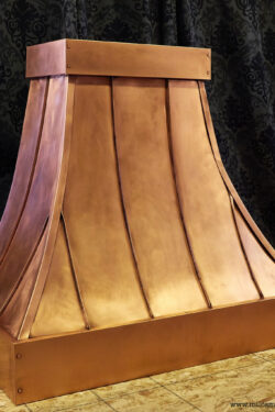 standing seam copper hood