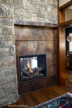 Volcanic Stainless Steel fireplace