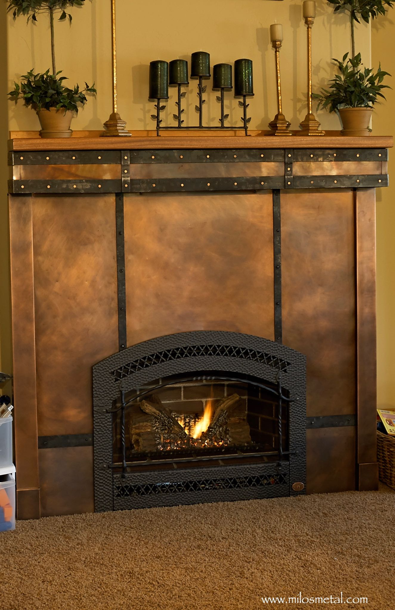 Fireplace Copper | Milo's Art Metal