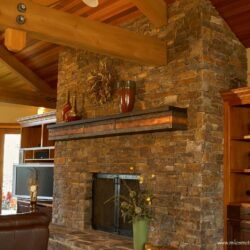 Copper Fireplace Mantel