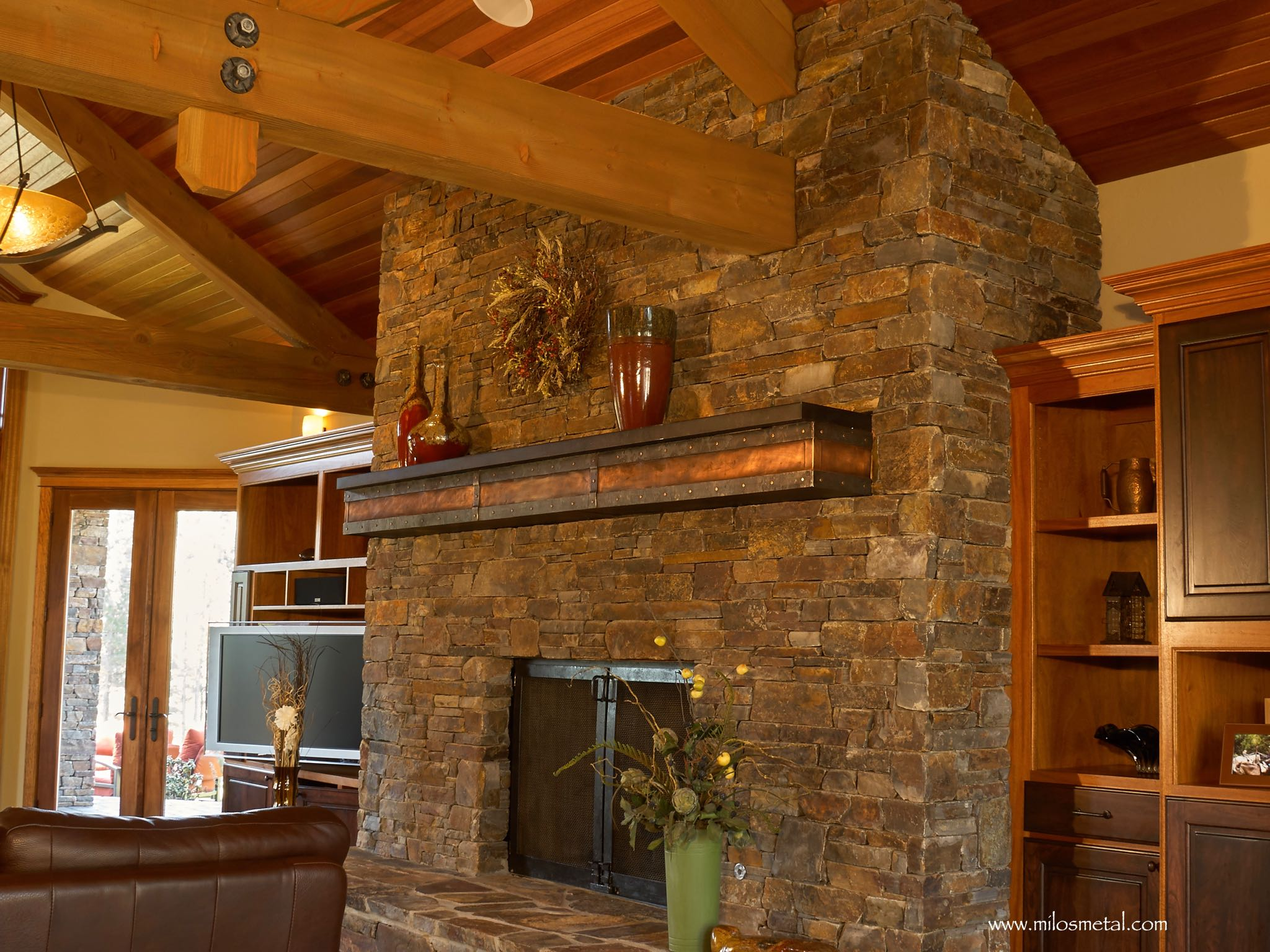 Copper Fireplace Mantel Surround