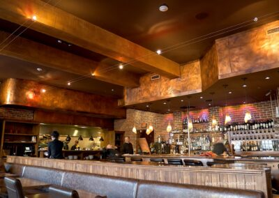Copper panels -Restaurant
