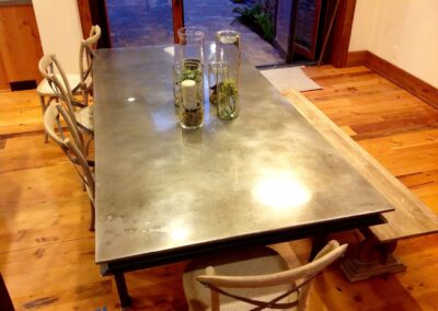 volcanic stainless steel table top