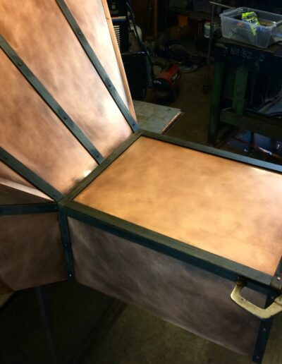 copper hood under construction
