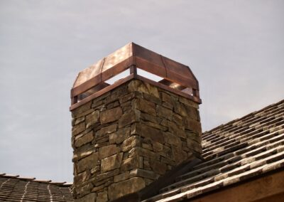 Copper chimney cover