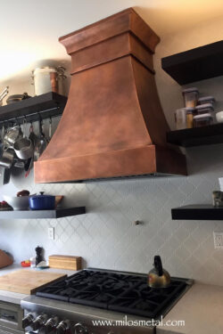 copper-hood with welded seams